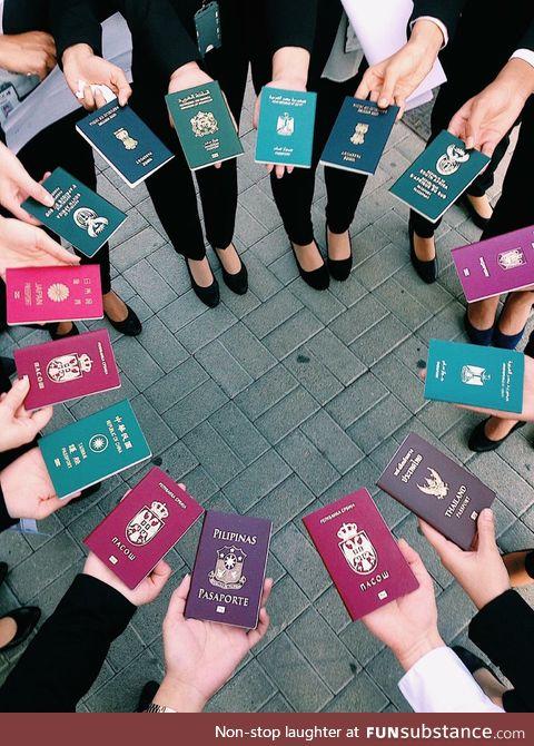An international flight attendant and her crew
