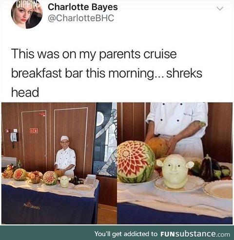 Carving shrek