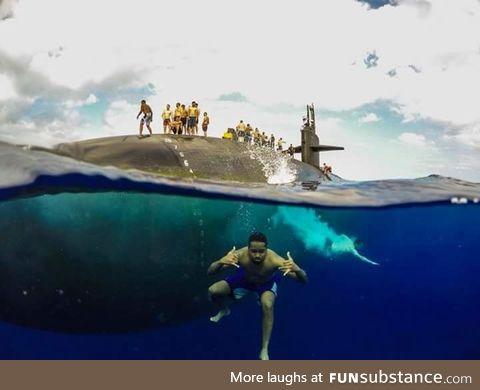 USS Olympia SSN-717 Swim call
