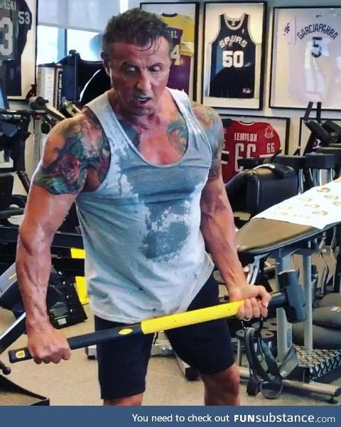 72 years old. Preparing for Rambo 5