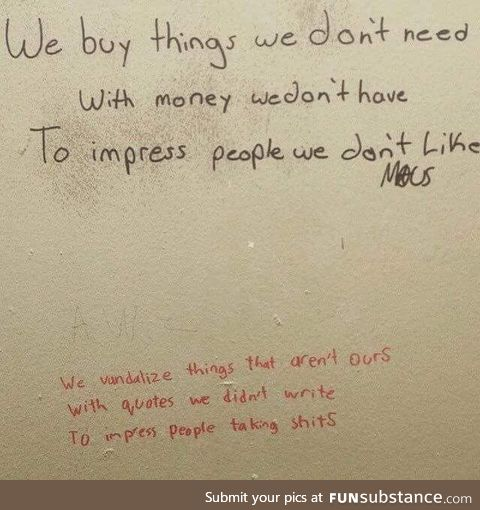Toilet philosophy at its finest