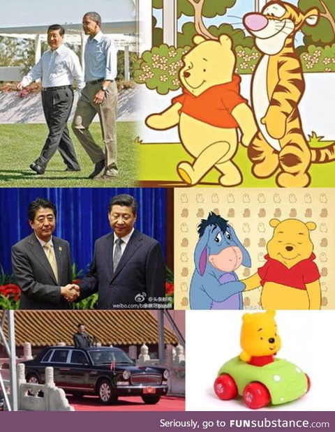 Chineese President bans new Pooh-movie because of memes
