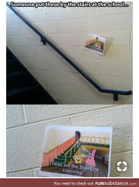 Stairs of learning