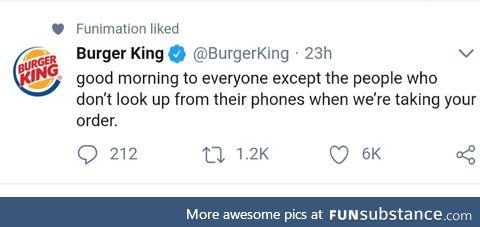 Burger King is feeling feisty this morning
