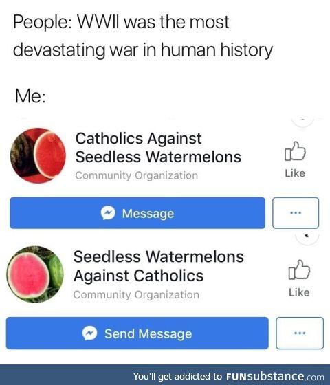 War on Facebook