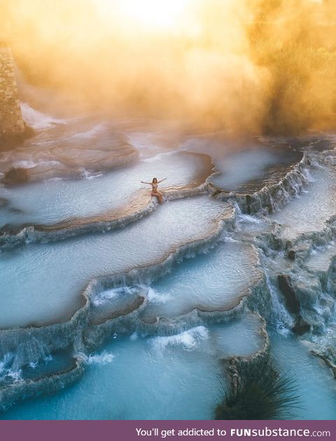 Saturnia, a spa town in Tuscany, Italy