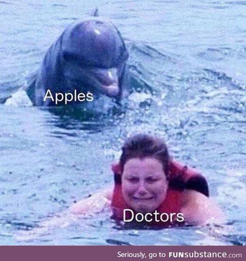 Apples vs doctors