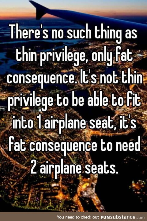 No such thing as thin privilege