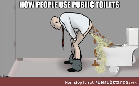 How people use public toilets