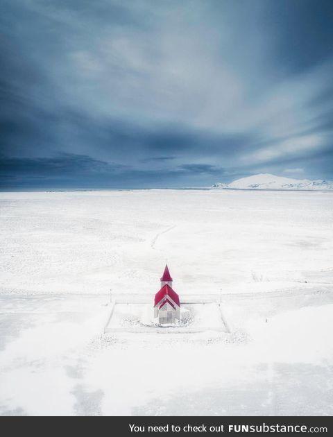Little church in Iceland