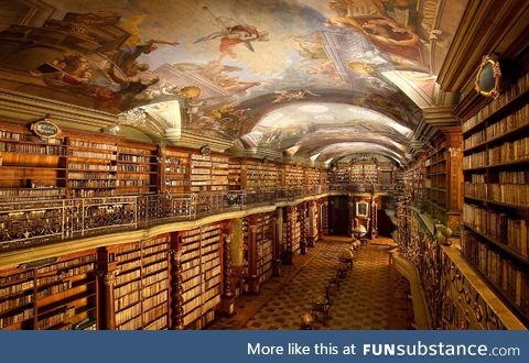 This beautiful library in Prague