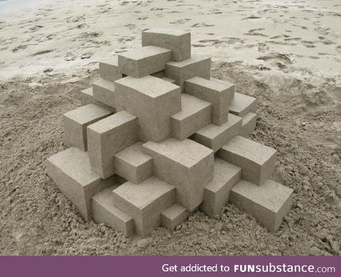 The edges of this sandcastle is unreal