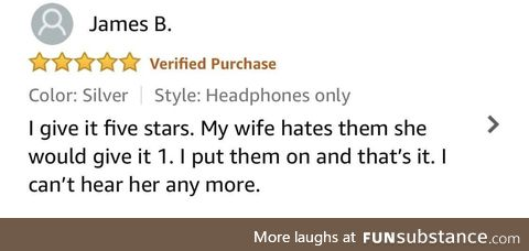 I found the key to life in a review for headphones