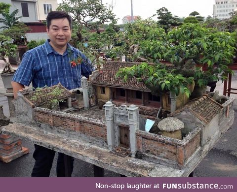 A Miniature Model of An Ancient House in Northern Vietnam