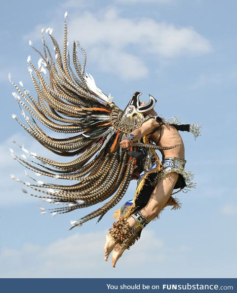 Aztec dancer in all its glory