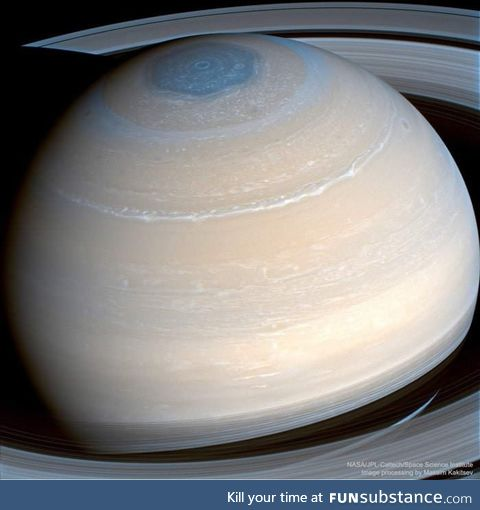 Amazing high resolution image of Saturn taken by NASA's space probe Cassini