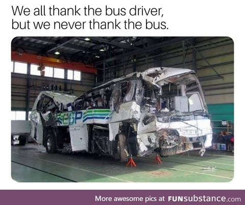Thanks the bus