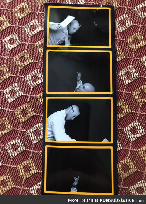 Alone with the wedding photo booth