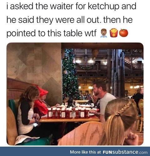Ketchup hogging