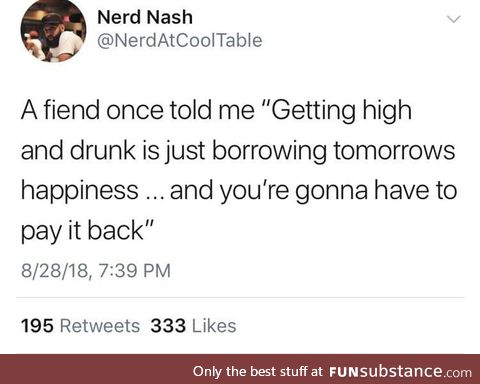 Ain't nothing free, even happiness on credit
