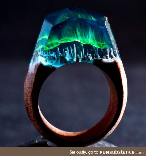 The Aurora Borealis in a ring