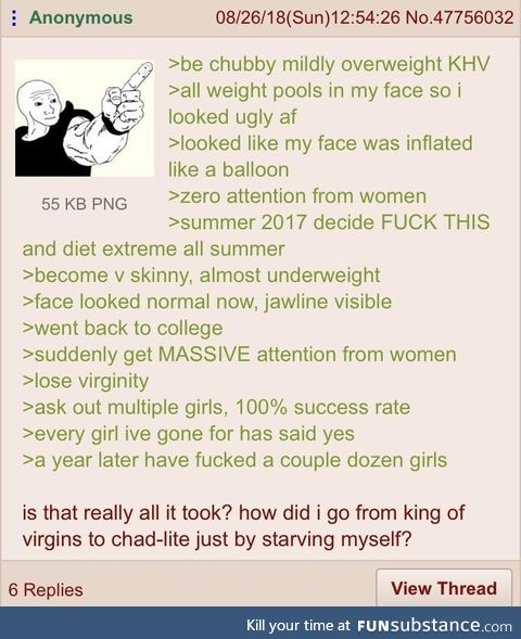 Anon becomes chad-lite