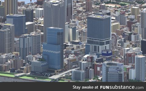 This is not real. This is a city made in Minecraft