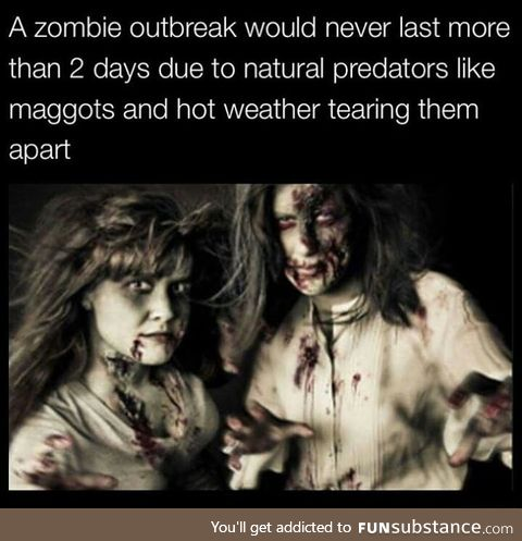 Zombie outbreak would be short