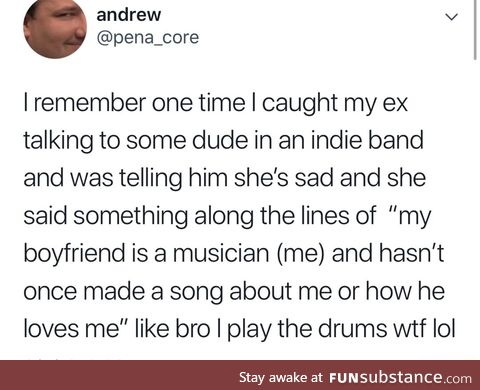 A musician boyfriend