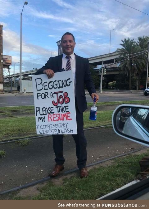 Get this man a job, New Orleans!