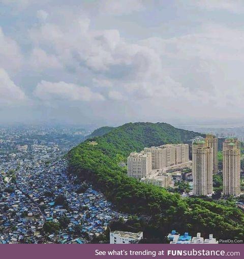 Division of rich and poor. Mumbai, India