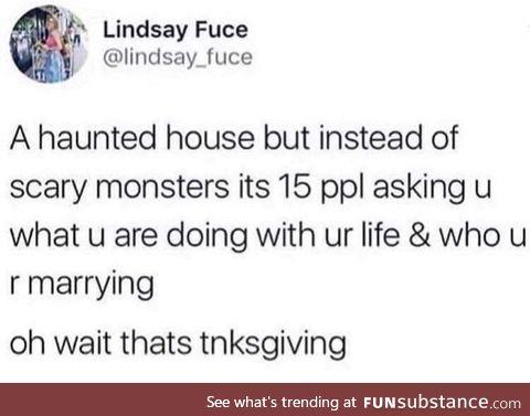 Sad thanksgiving