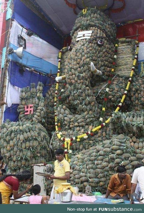 Pineapple ganesh! India