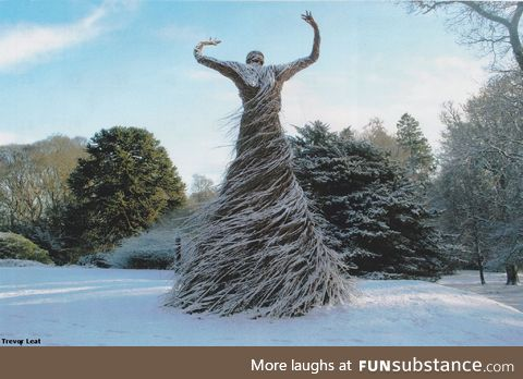 Sculpture woven from Willow