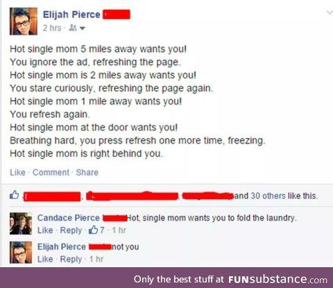Hot single mum