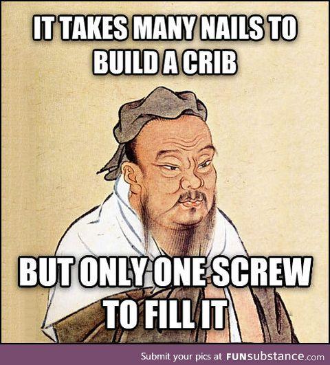Wise Confucius says