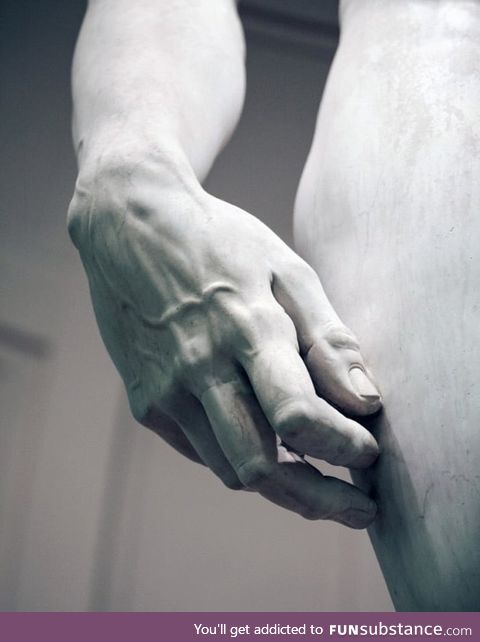 Look at the detail of this Michelangelo sculpture