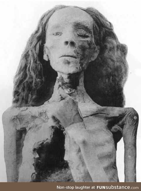 One of the best (facially) preserved mummies in Egypt, Lady Tiye, ca. 3300 years old