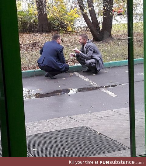 A normal business meeting in Russia