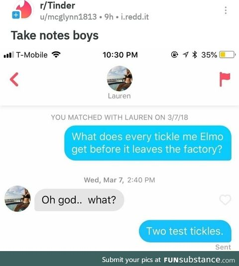 What does every tickle me Elmo get before it leaves the Factory