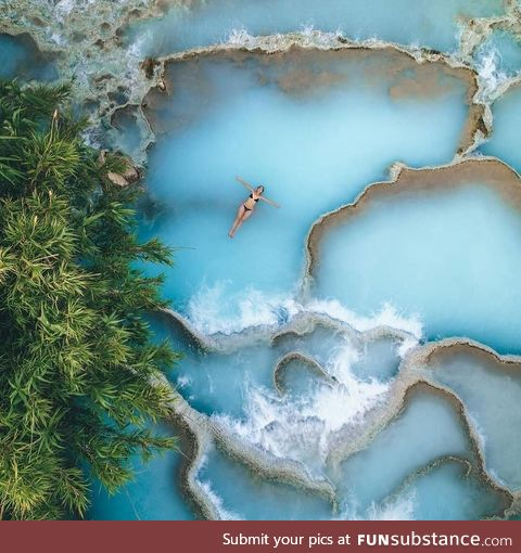 Hot springs in Saturnia, Italy