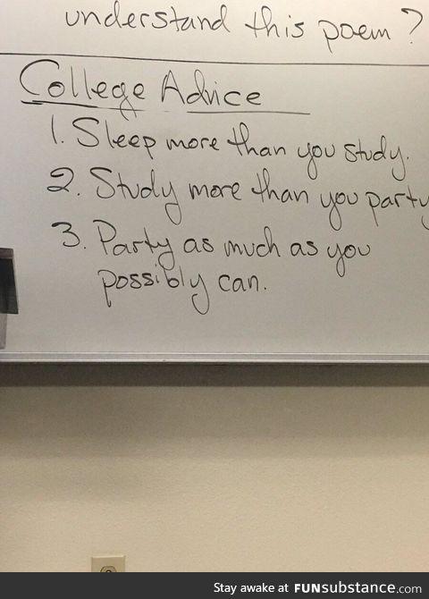 College professor advice