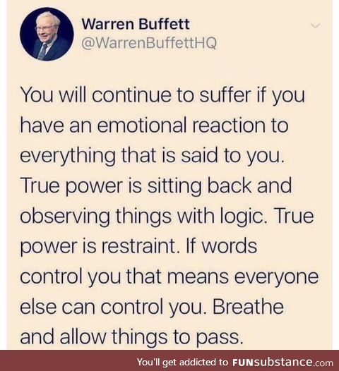 Good advice especially today