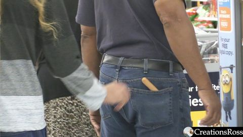 Sneaking hotdogs into peoples pockets