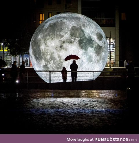 A 23-foot replica of the Moon
