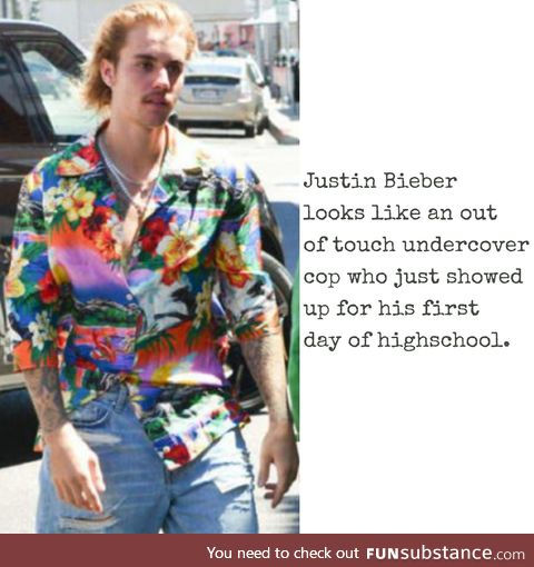 Justin Bieber looks like a criminal sketch on an old episode of unsolved mysteries