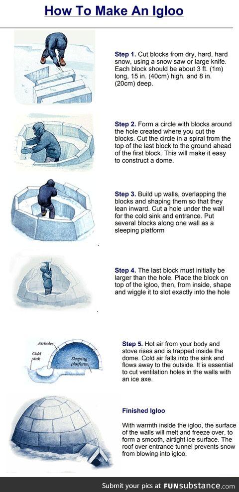 How to many an igloo