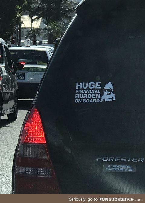 Honest window sticker