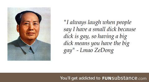 Big d*ck = the big gay
