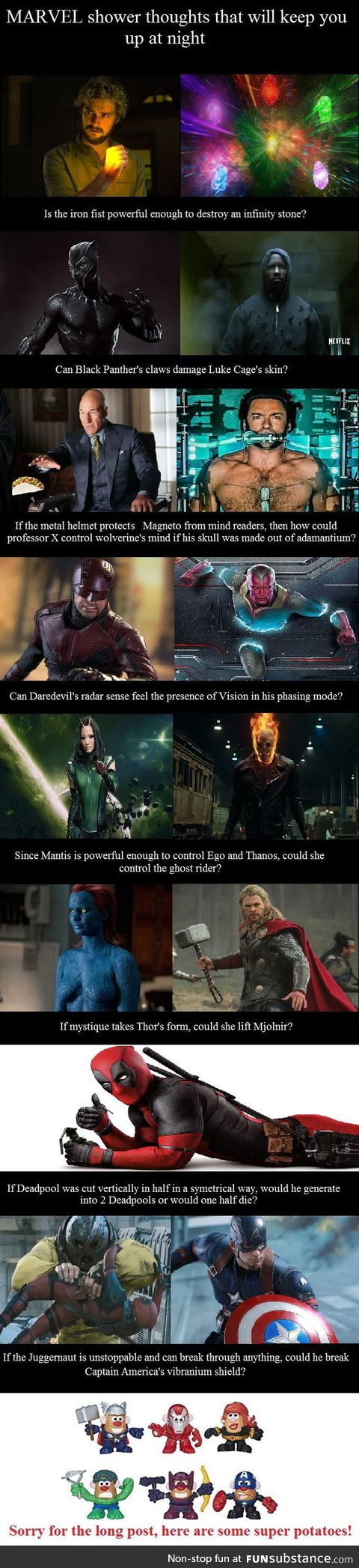 Marvel shower thoughts